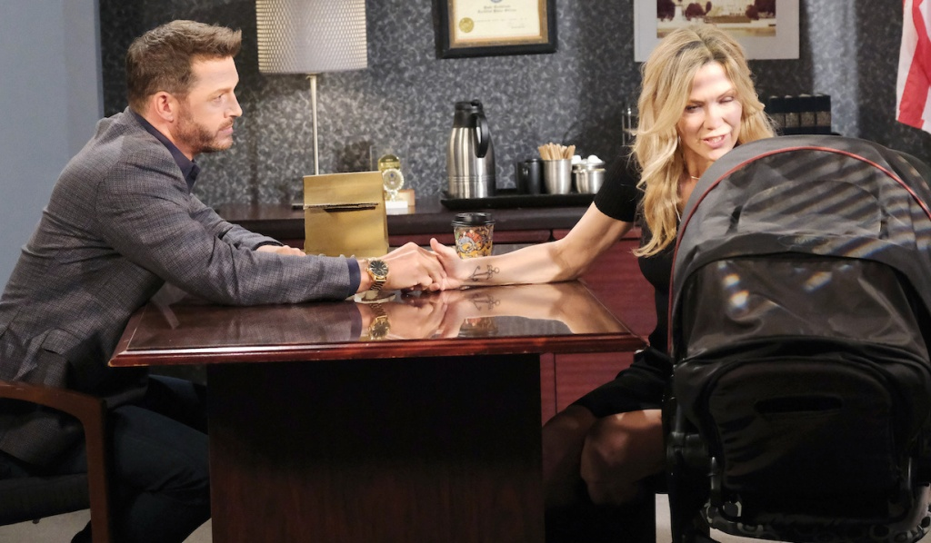 Brady and Rachel visit Kristen in the SPD on Days of Our Lives