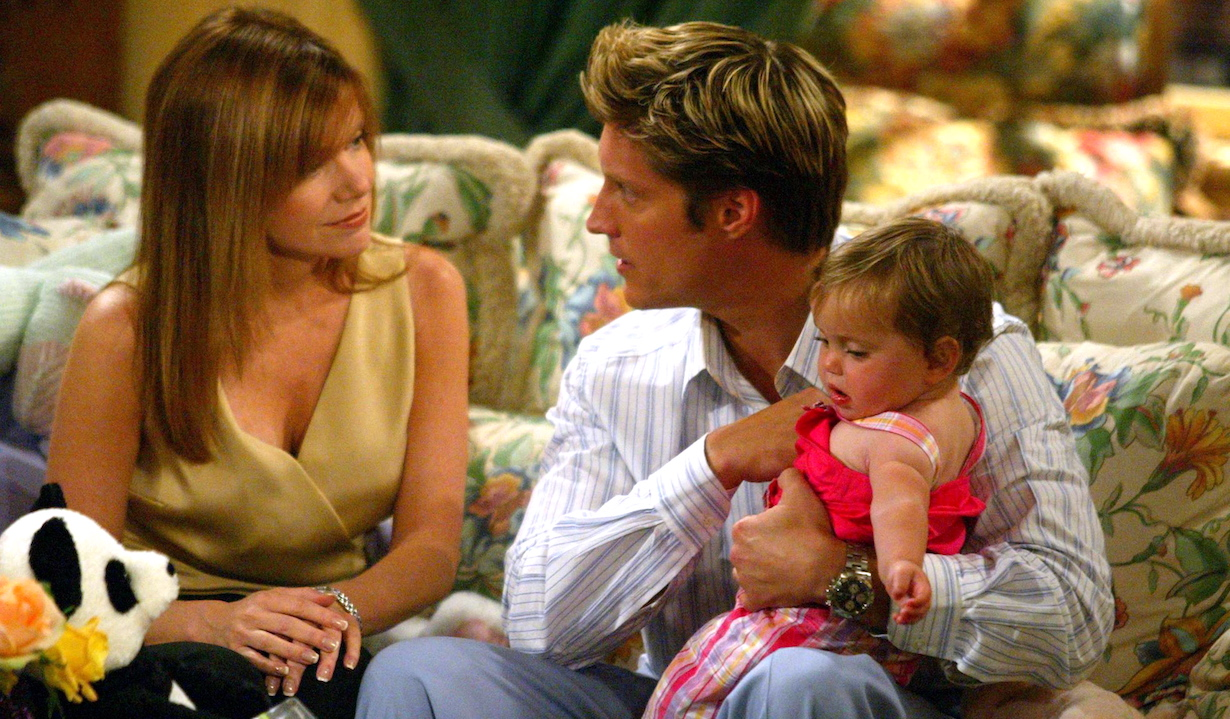 """macy deacon Bobbie Eakes, Sean Kanan and """"Baby Hope""""""""The Bold and the Beautiful"""" SetCBS Television City5/19/03©Jesse Grant/JPI310-657-9661Episode# 4072"""
