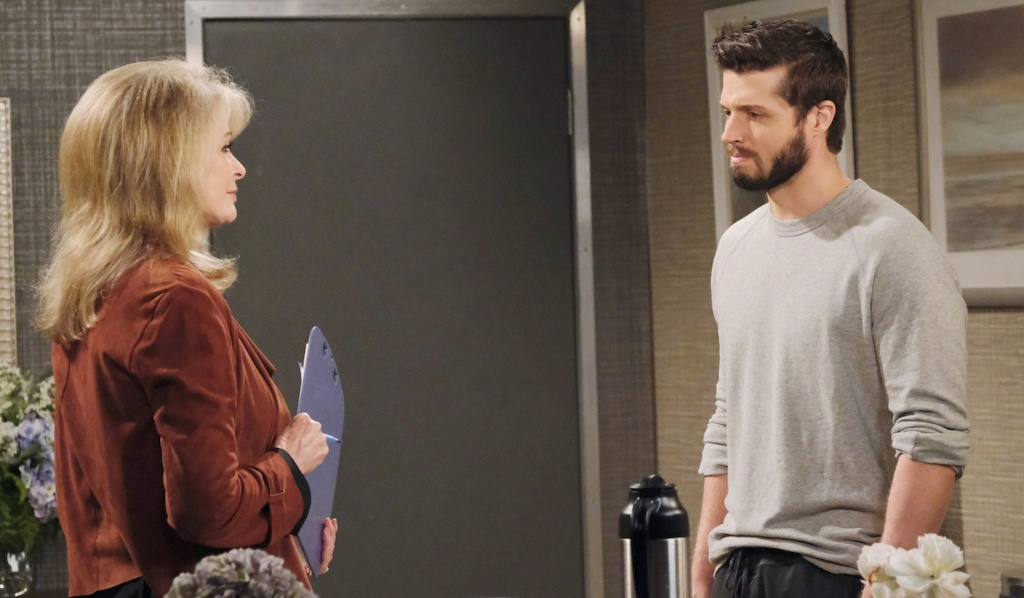 Marlena talks with Evan on Days of Our Lives
