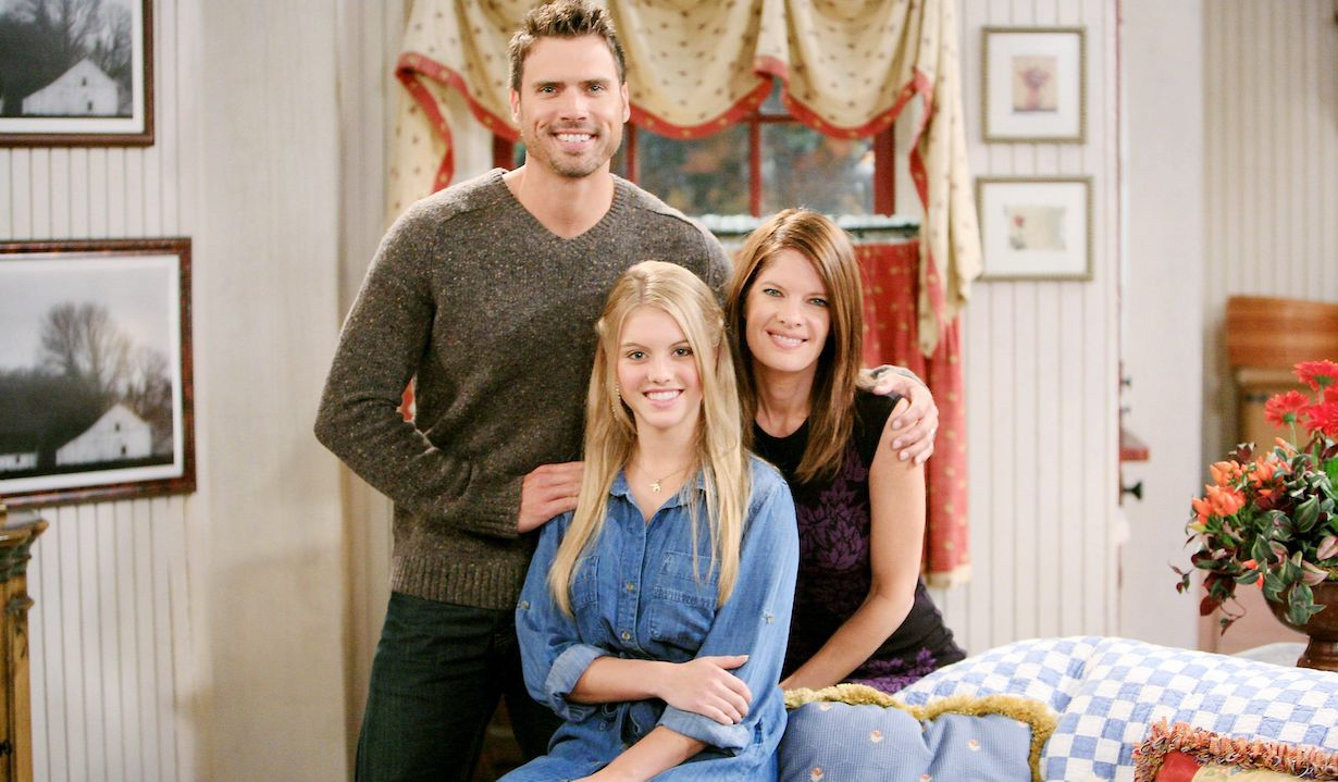 """Michelle Stafford, Joshua Morrow, Lindsay Bushman """"The Young and the Restless"""" Set CBS television City Los Angeles 09/12/12 ©Howard Wise/jpistudios.com 310-657-9661"""
