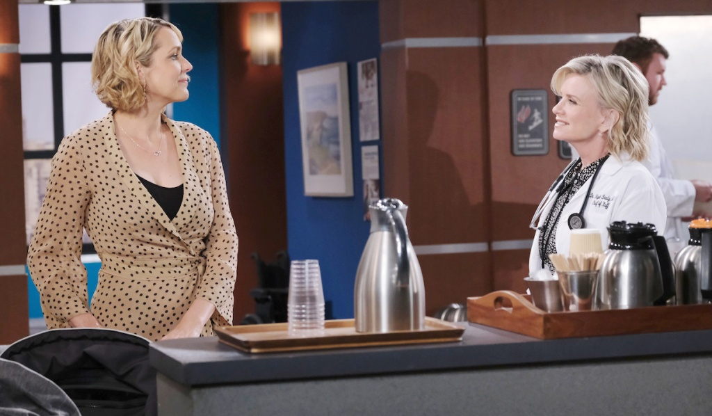Nicole talks with Kayla at the hospital on Days of our Lives