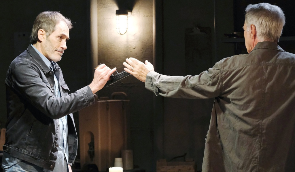 Orpheus disarms John on Days of Our Lives