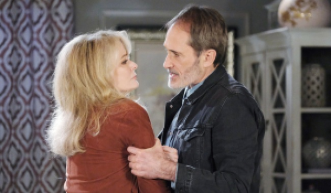 Orpheus grabs Marlena on Days of Our Lives
