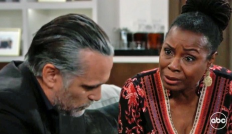 Phyllis pushes Sonny about Nina GH