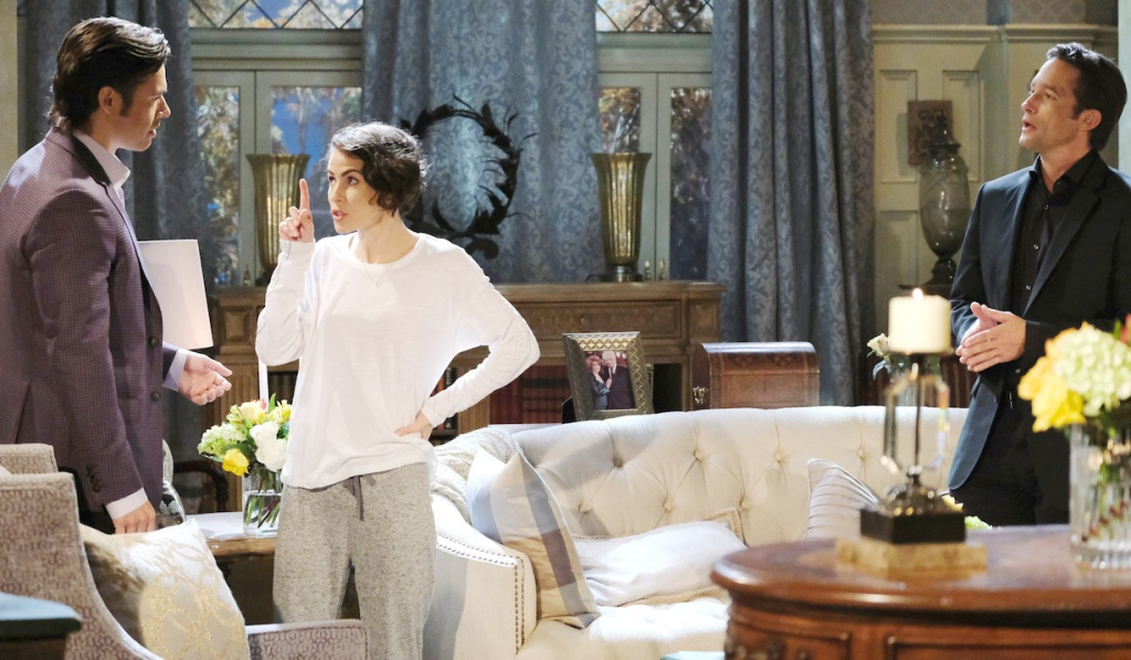 Sarah scolds Xander in front of Philip on Days of Our Lives