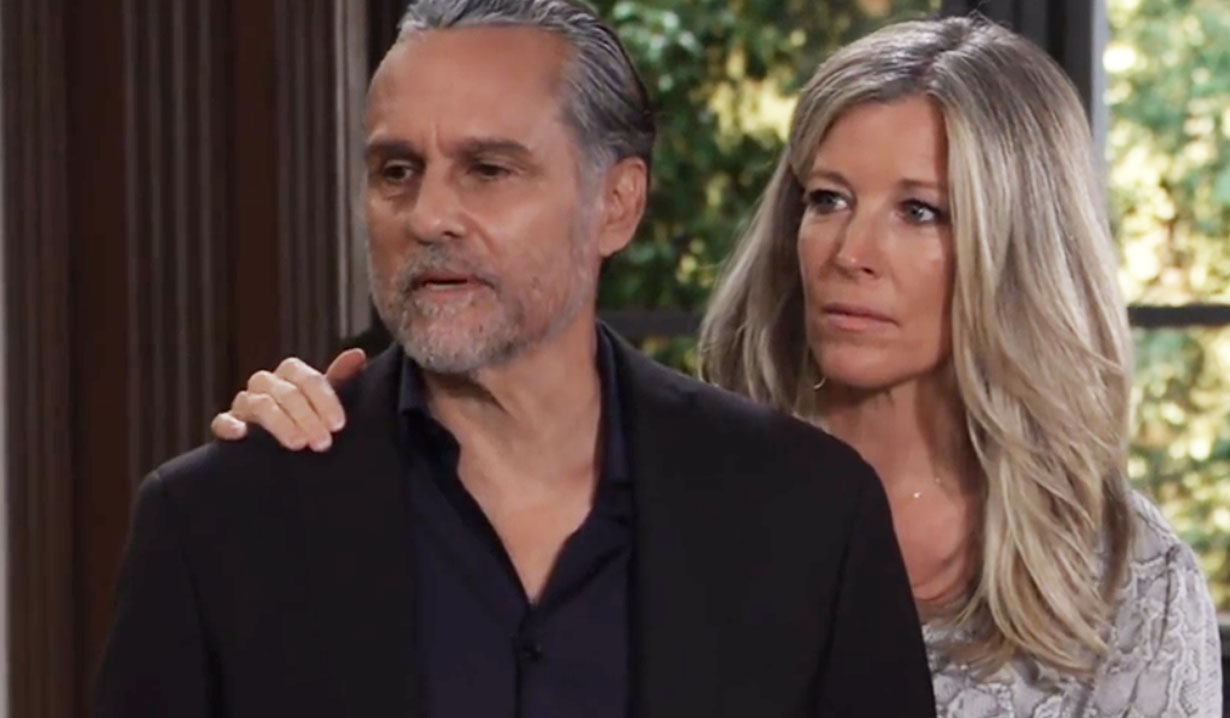 sonny and carly receive a visitor gh