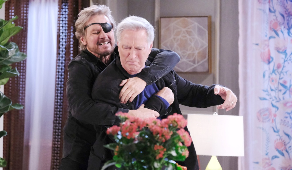 Steve restrains John on Days of Our Lives
