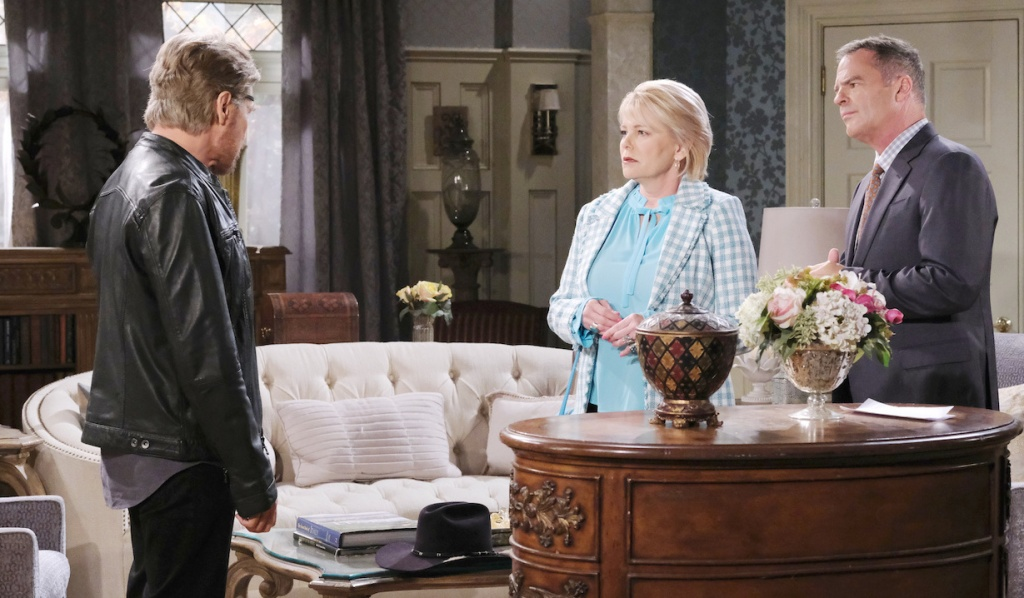 Steve visits Justin and Bonnie in Kiriakis mansion on Days of our Lives