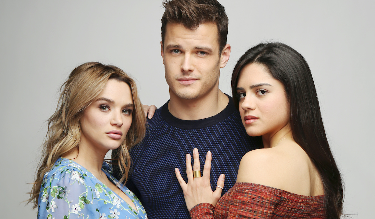 """Sasha Calle, Michael Mealor, Hunter King """"The Young and the Restless"""" Set Photo Shoot CBS television City Los Angeles 02/11/19 © Howard Wise/jpistudios.com 310-657-9661"""