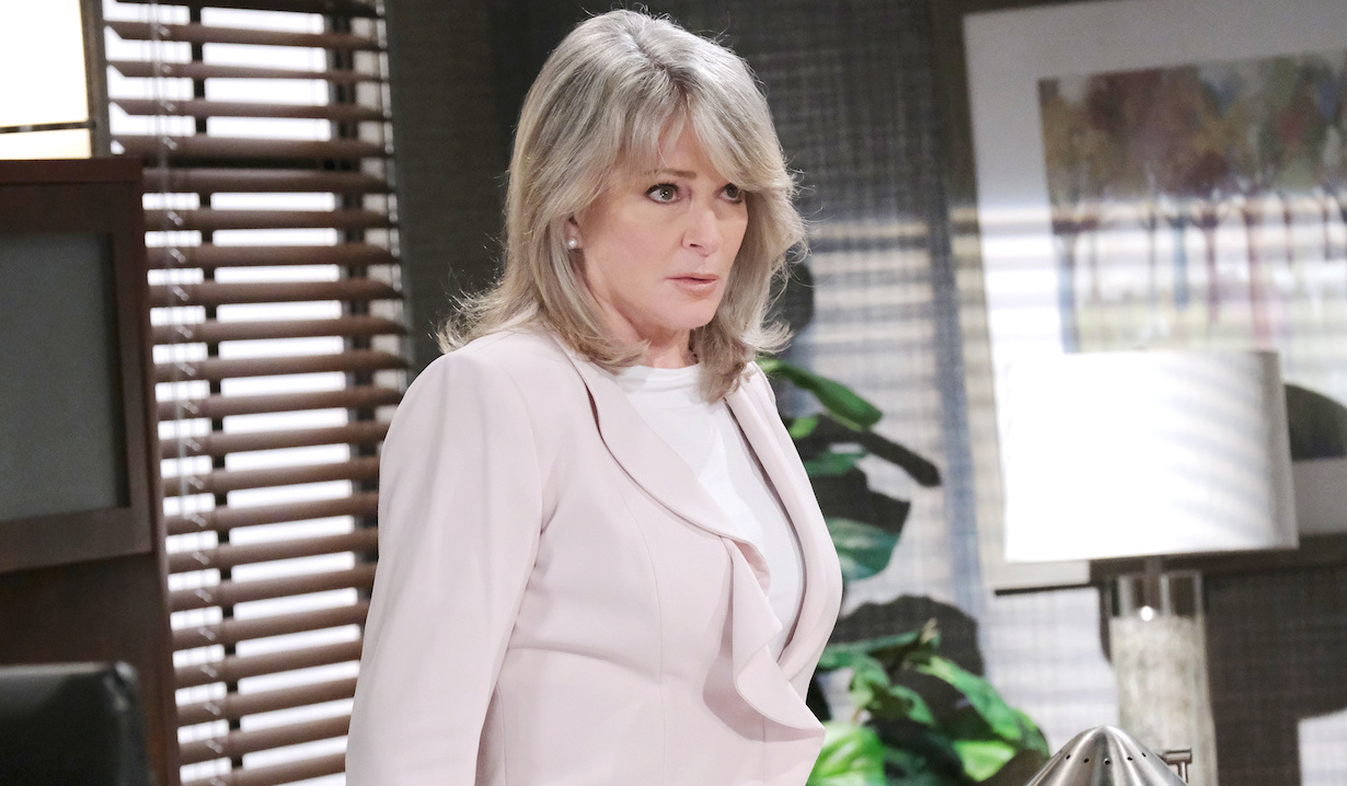Marlena in her office on Days of Our Lives