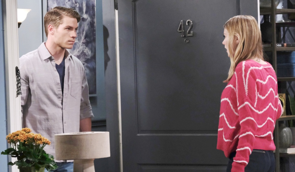 Tripp confronts Allie on Days of our Lives