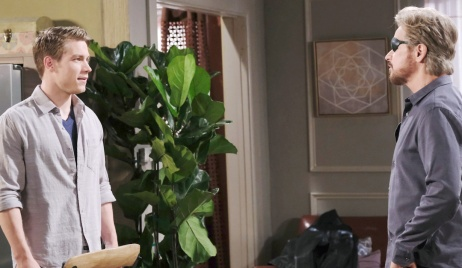 Tripp defends himself to Steve on Days of our Lives
