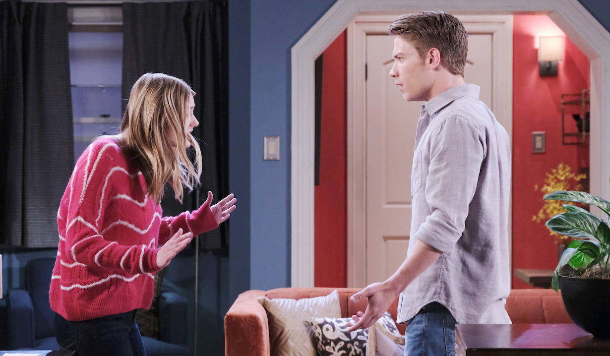 Allie lashes out at Tripp on Days of our Lives