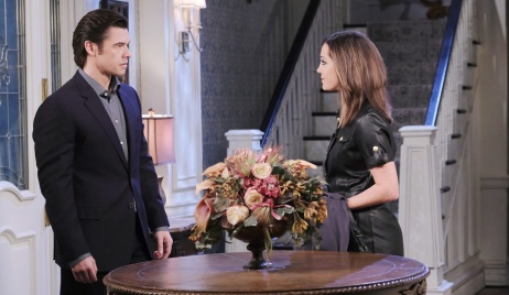 Xander is unhappy to see Jan on Days of our Lives