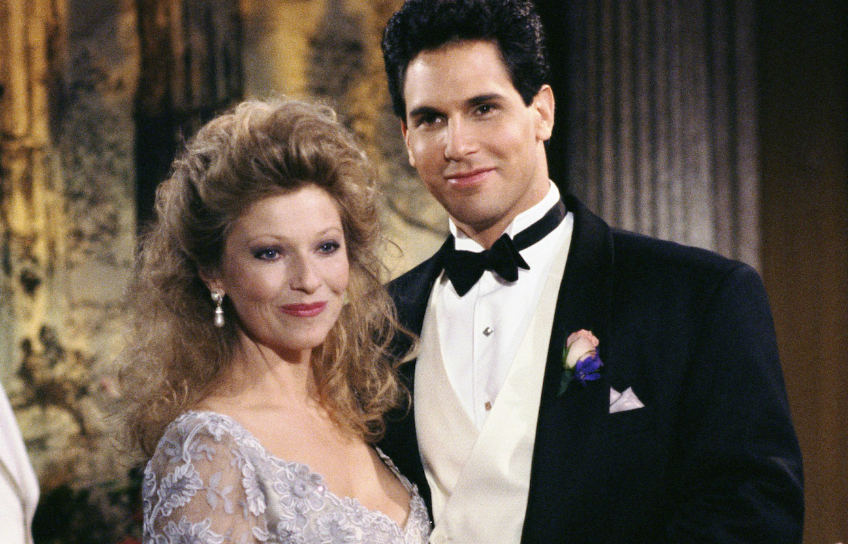THE YOUNG AND THE RESTLESS, (from left): Beth Maitland, Don Diamont, (ca. late 1980s), 1973-. © CBS / courtesy Everett Collection