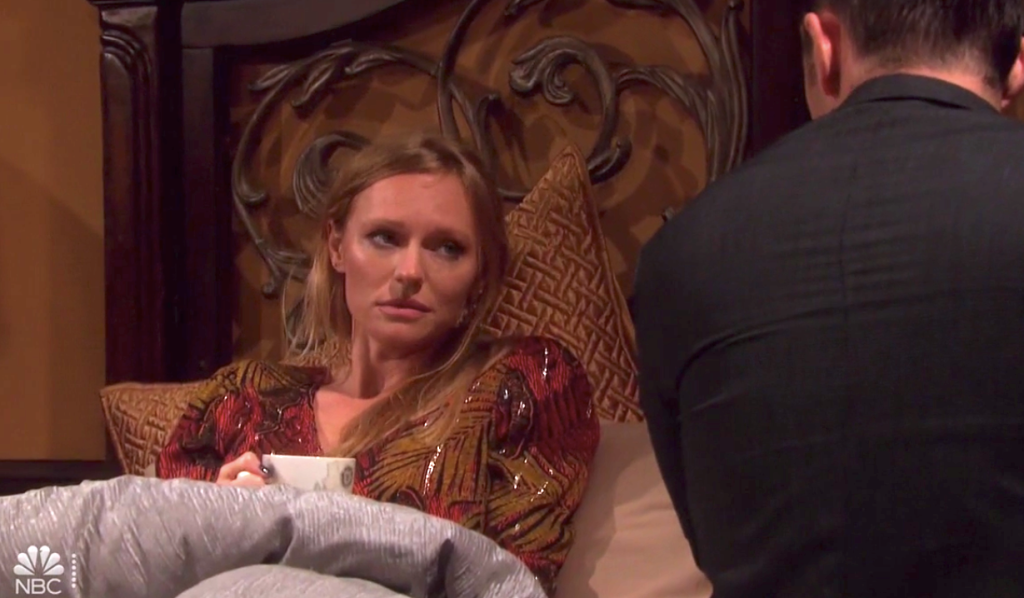 Abigail wakes up hungover with Chad on Days of Our Lives