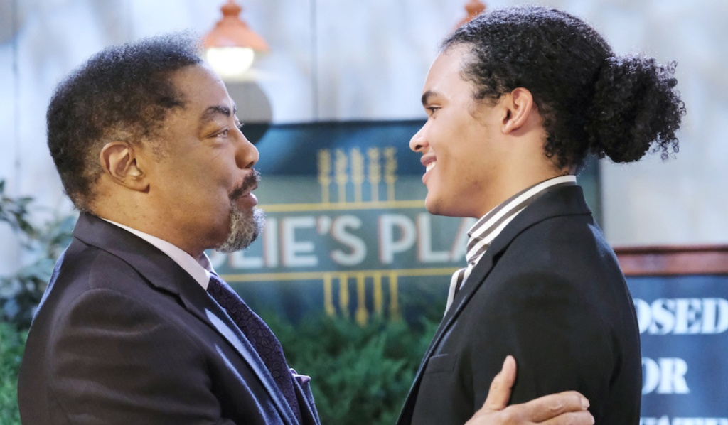 Abe welcomes Theo home on Days of Our Lives