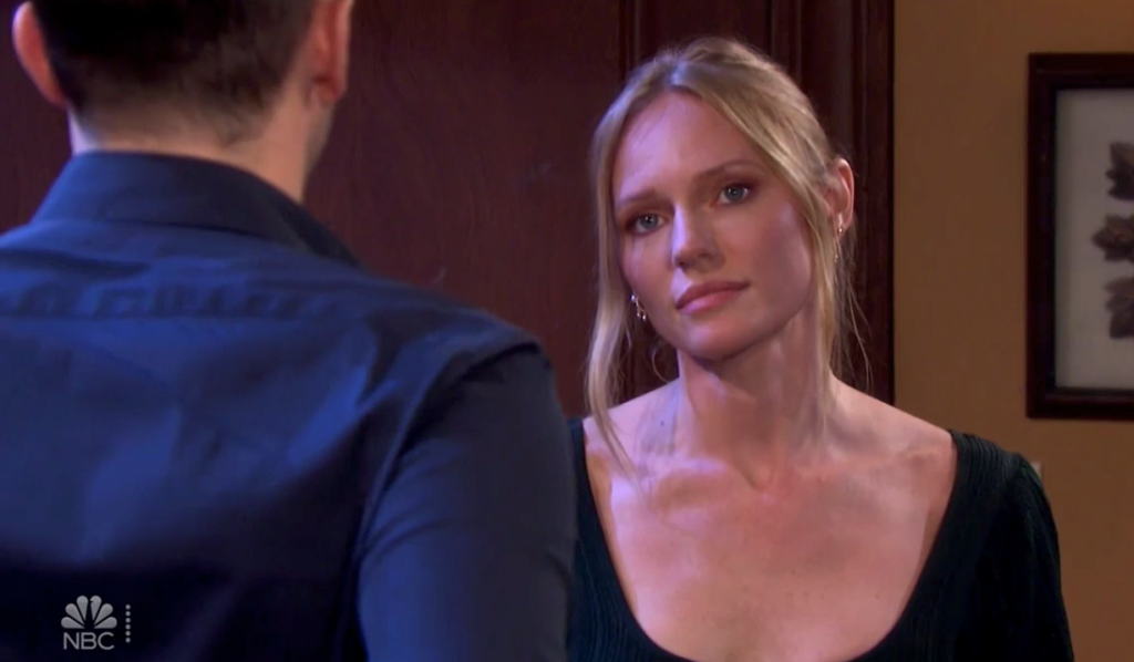 Abigail and Chad talk in thier bedroom on Days of Our Lives