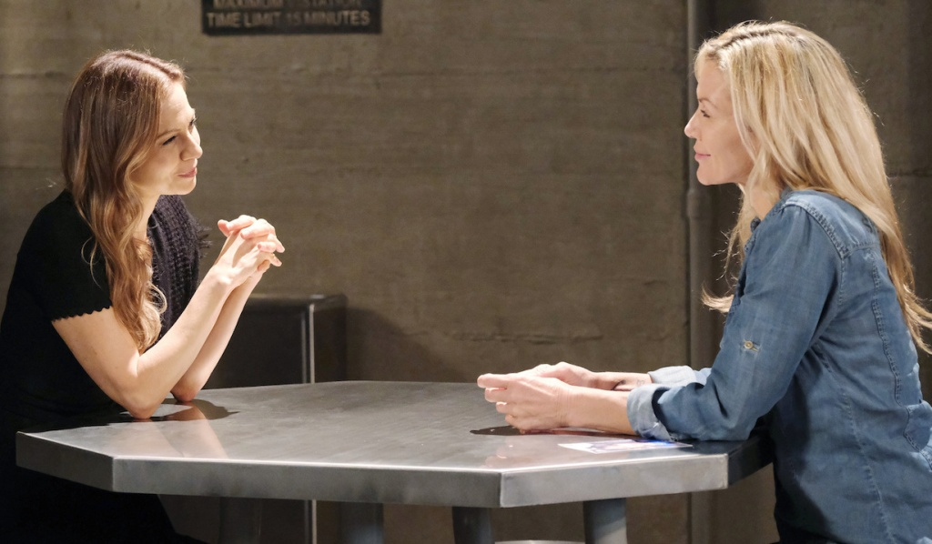 Ava visits Kristen in prison on Days of Our Lives