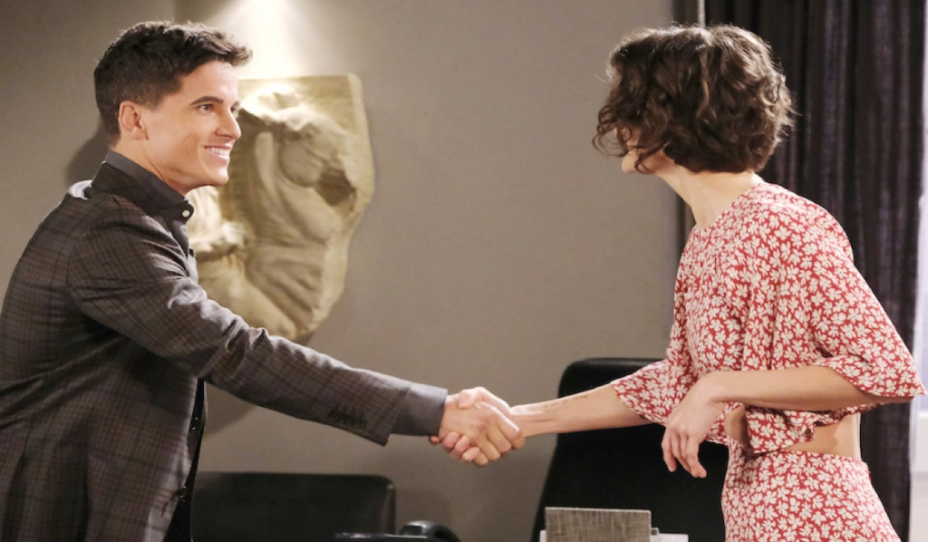 Charlie meets Sarah on Days of Our Lives
