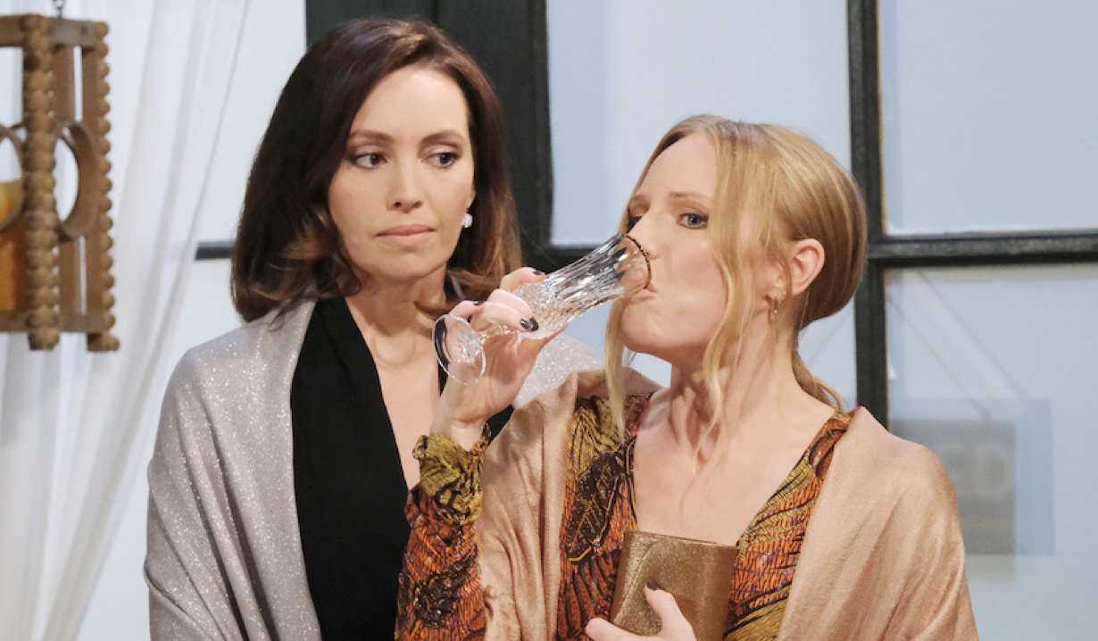 Gwen watches Abigail drink on Days of Our Lives
