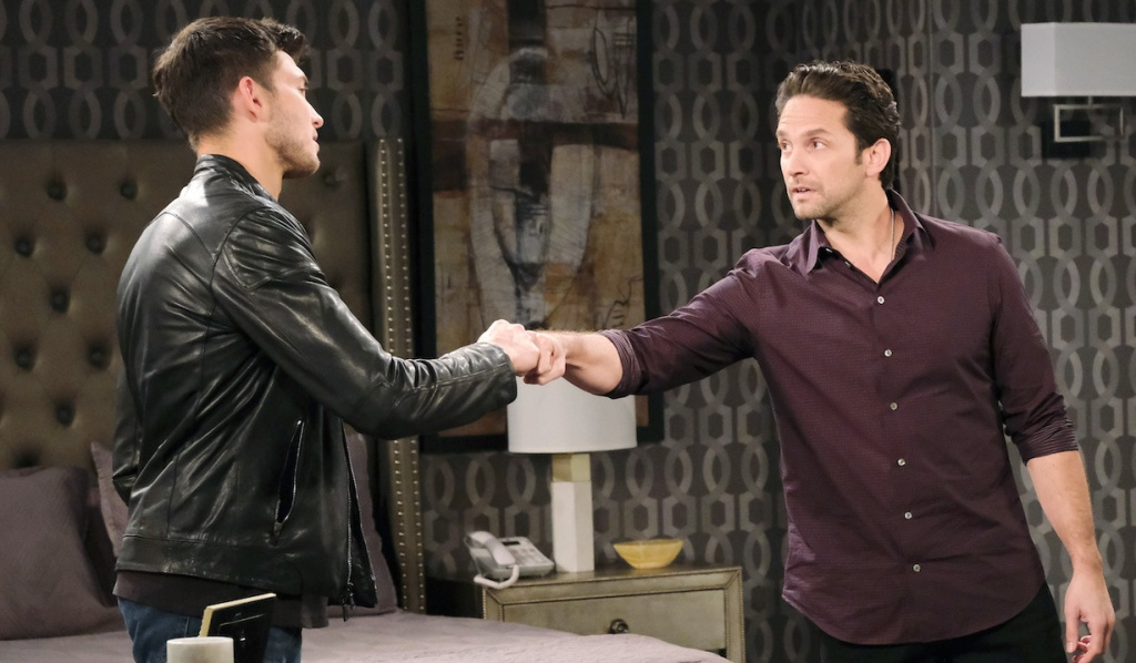 Jake and Ben fist bump on Days of Our Lives