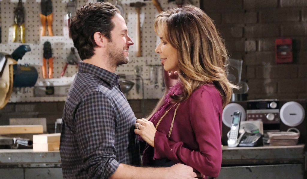 Jake and Kate cozy up at the garage on Days of Our Lives