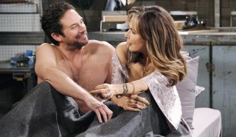 Jake and Kate after having sex at the garage on Days of Our Lives