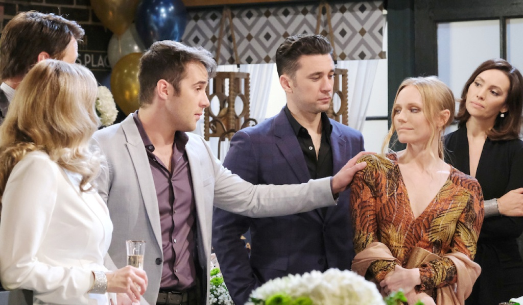 The Deveraux family and Gwen at party on Days of Our Lives