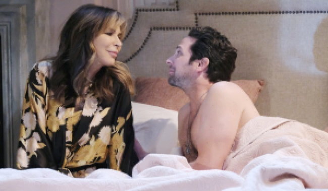 Kate and Jake in bed on Days of Our Lives