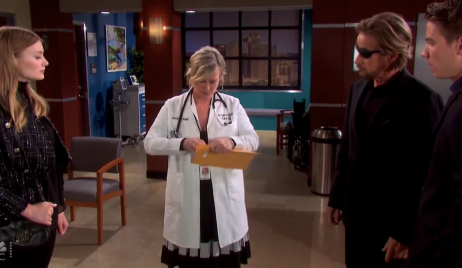 Kayla reads the DNA test results on Days of Our Lives
