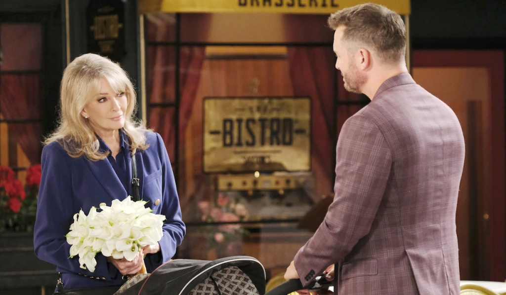 Marlena and Brady in Horton Square on Days of Our Lives