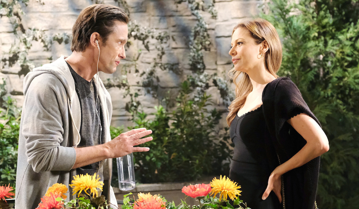 Philip meets with Ava in the park on Days of Our Lives