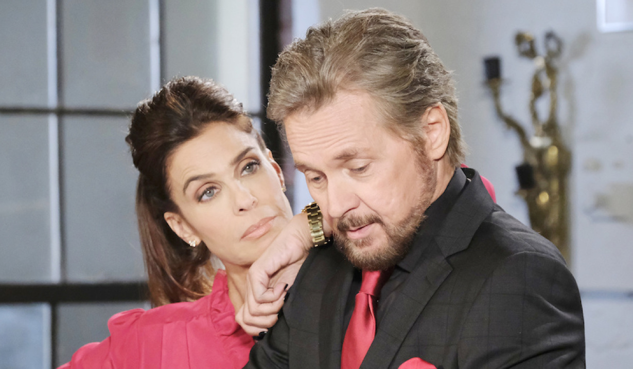 Hope as Gina and Steve as Stefano on Days of Our Lives