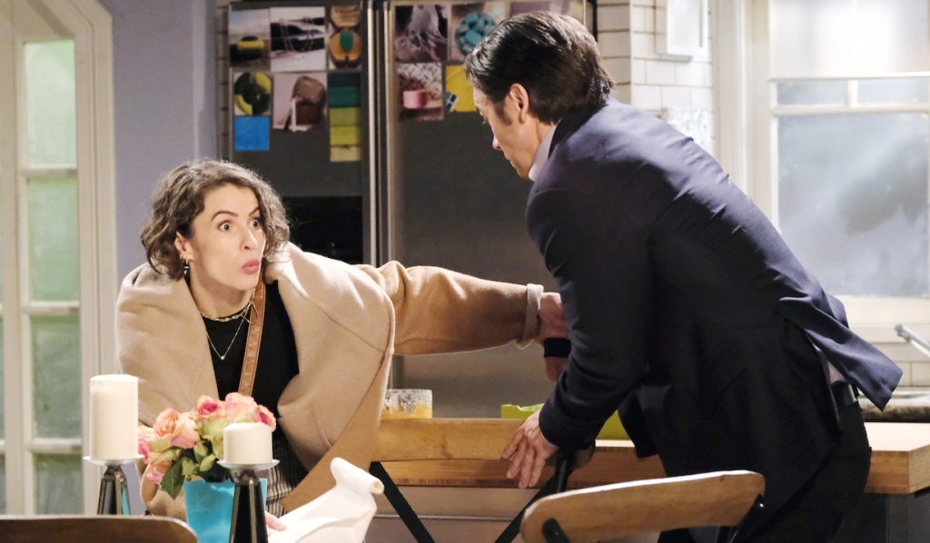 Sarah and Xander get busted in Ava's apartment on Days of Our Lives