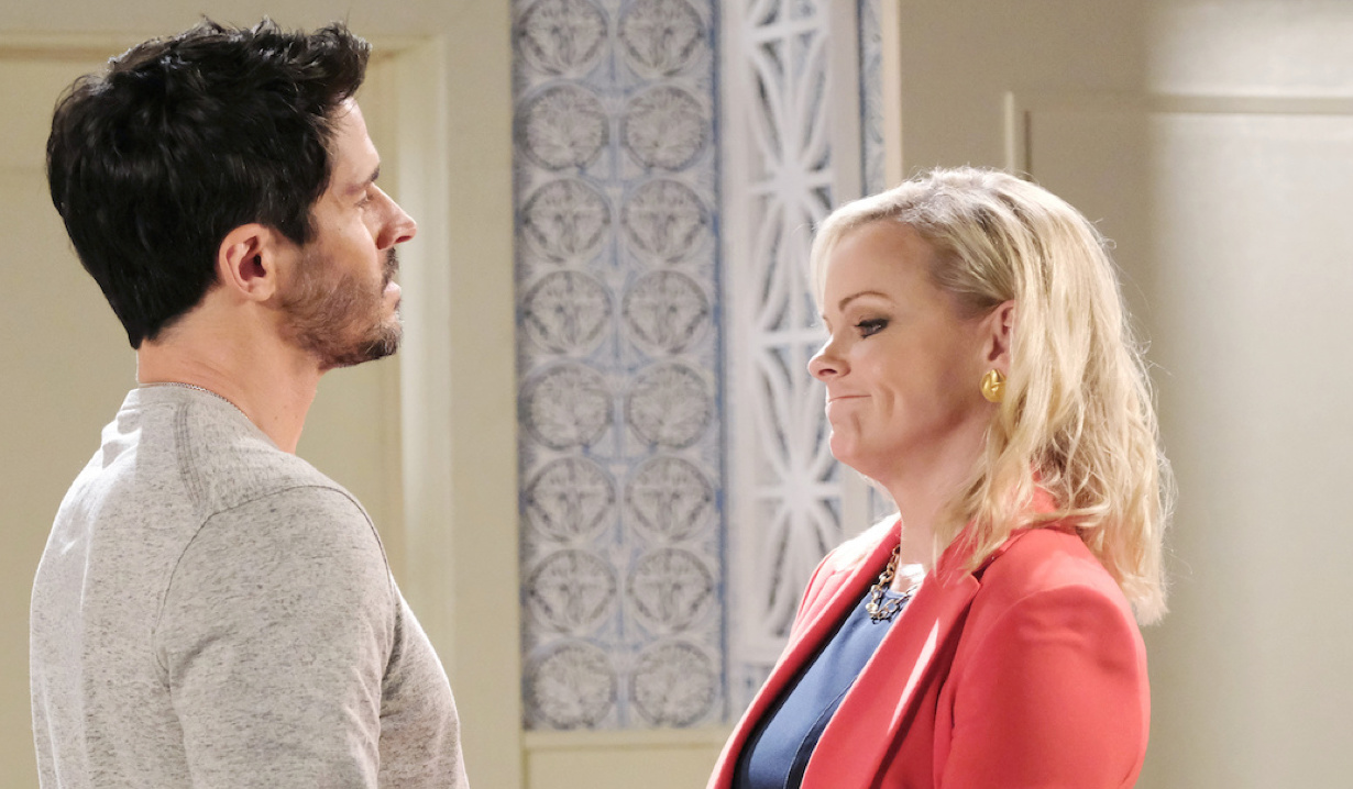 Shawn and Belle talk at home on Days of Our Lives