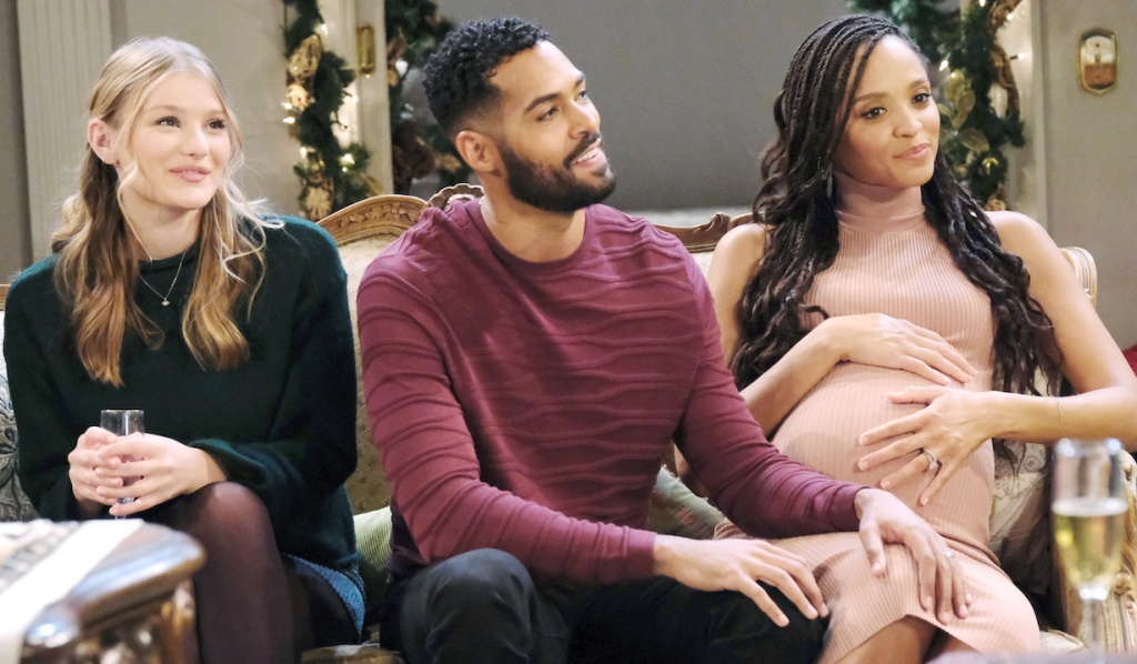 Allie, Eli, and Lani at the Horton Christmas on Days of Our Lives