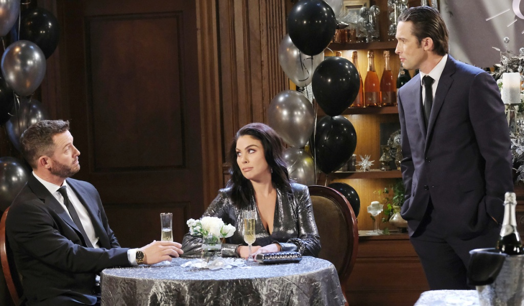 Phiip finds Brady and Chloe at the NYE party on Days of Our Lives