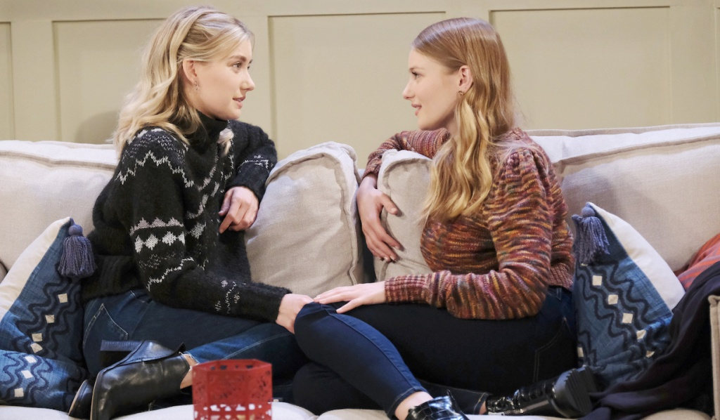 Claire gushes to Allie on Days of Our Lives