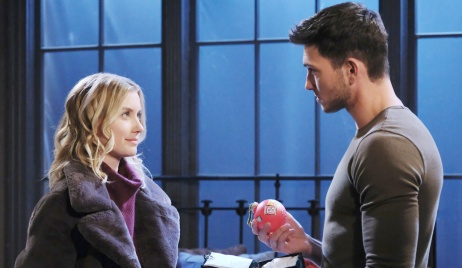 Claire gives Ben an ornament on Days of Our Lives