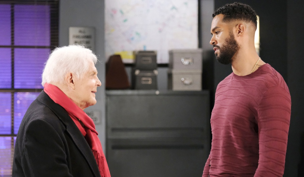 Doug visits Eli at the station on Days of Our Lives