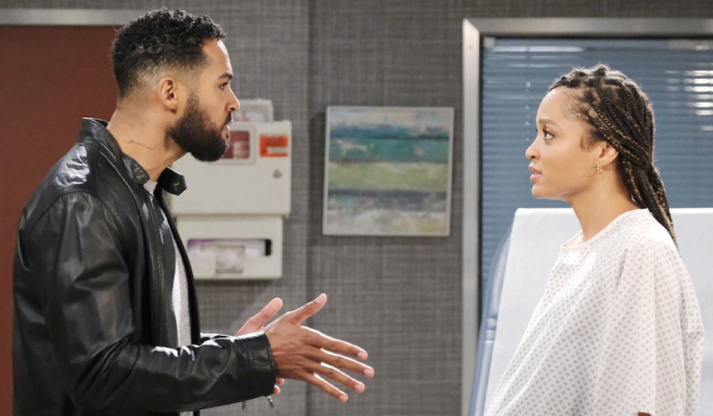 Eli and Lani argue at the hospital on Days of Our Lives