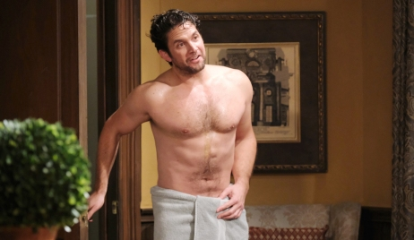 Jake in nothing but a towel on Days of Our Lives