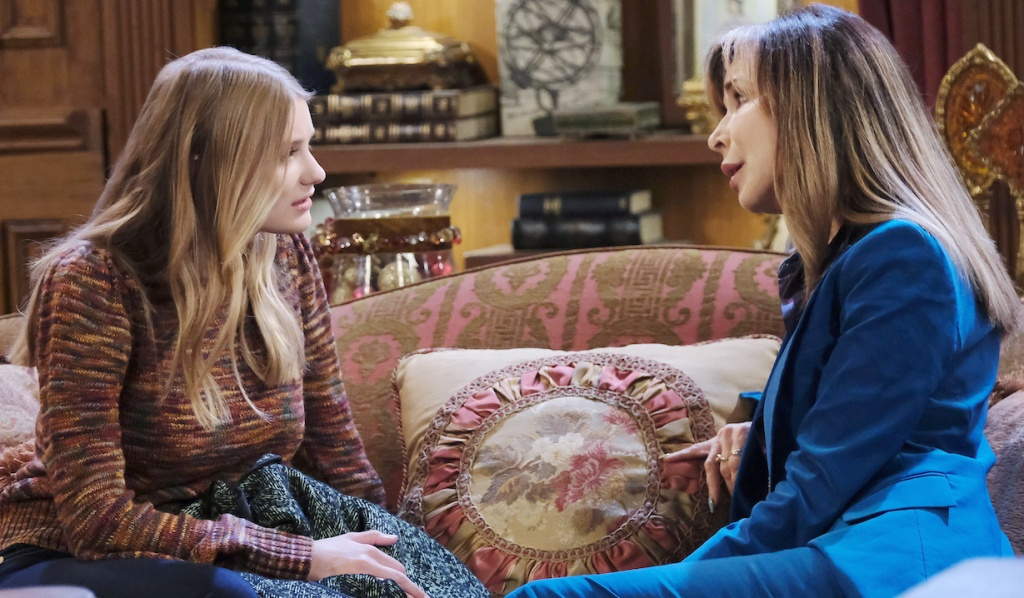 Kate counsels Allie on Days of Our Lives