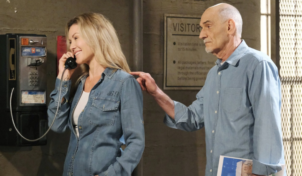 Rolf interrupts Kristen's phone call in prison on Days of Our Lives