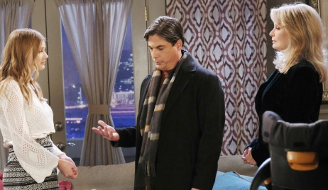 Lucas explains himself to Allie and Marlena on Days of Our Lives