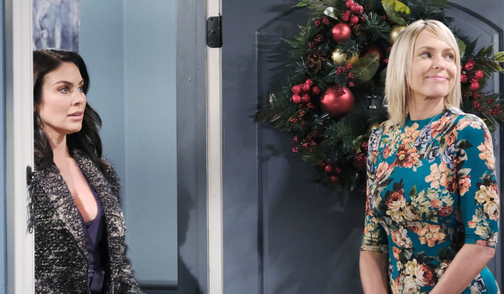 Nicole opens the door to Chloe on Days of Our Lives