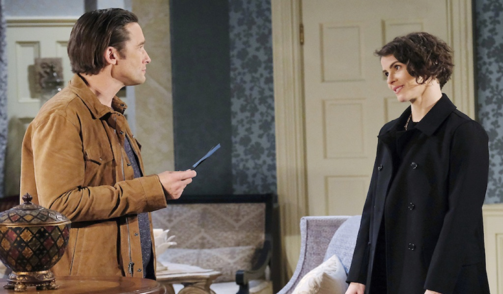 Philip confronts Sarah at Kiriakis mansion on Days of Our Lives