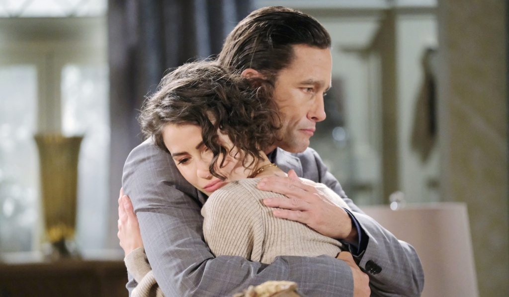 Philip comforts Sarah on Days of Our Lives