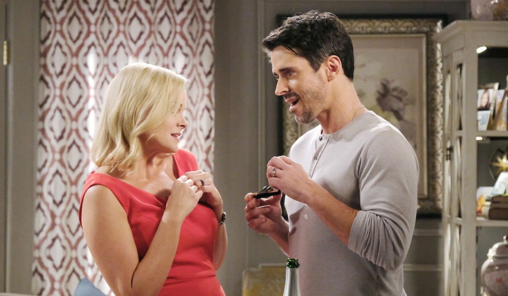 Shawn gives Belle a gift on Days of Our Lives